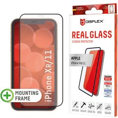 Displex Screenprotector Real Glass Full Cover iPhone 11 / Xr - Zwart