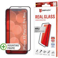 Displex Screenprotector Real Glass Full Cover iPhone 11 Pro Max / Xs Max - Zwart