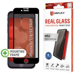 Displex Screenprotector Privacy Glass Full Cover iPhone SE (2020) / 8 / 7 / 6(s) - Zwart