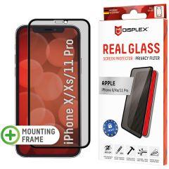 Displex Screenprotector Privacy Glass Full Cover iPhone 11 Pro / Xs / X - Zwart