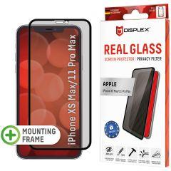 Displex Screenprotector Privacy Glass Full Cover iPhone 11 Pro Max / Xs Max - Zwart