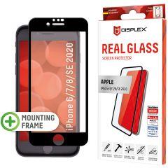 Displex Screenprotector Real Glass Full Cover iPhone SE (2020) / 8 / 7 / 6(s) - Zwart