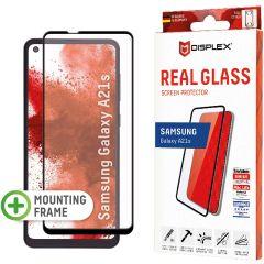 Displex Screenprotector Real Glass Full Cover Samsung Galaxy A21s - Zwart
