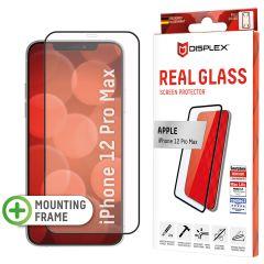 Displex Screenprotector Real Glass Full Cover iPhone 12 Pro Max - Zwart