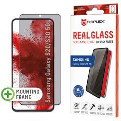 Displex Screenprotector Privacy Glass Samsung Galaxy S20 - Zwart