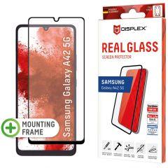 Displex Screenprotector Real Glass Full Cover Samsung Galaxy A42 - Zwart