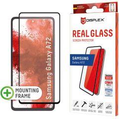 Displex Screenprotector Real Glass Full Cover Samsung Galaxy A72 - Zwart
