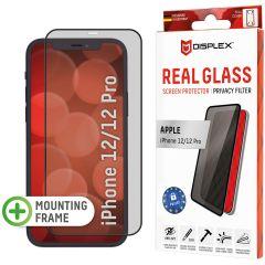 Displex Screenprotector Privacy Glass Full Cover iPhone 12 (Pro) - Zwart