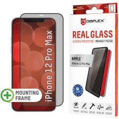 Displex Screenprotector Privacy Glass Full Cover iPhone 12 Pro Max - Zwart