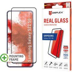 Displex Screenprotector Real Glass Full Cover Fingerprint Sensor Samsung Galaxy S21 - Zwart