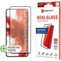 Displex Screenprotector Real Glass Full Cover Fingerprint Sensor Samsung Galaxy S21 Plus - Zwart