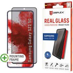 Displex Screenprotector Privacy Glass Full Cover Samsung Galaxy S21 - Zwart