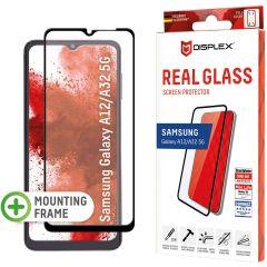 Displex Screenprotector Real Glass Full Cover Samsung Galaxy A32 (5G) / A12 - Zwart