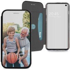 Samsung Galaxy S10 gel booktype ontwerpen (eenzijdig)