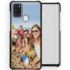 Ontwerp je eigen Samsung Galaxy A21s hardcase hoesje - Zwart