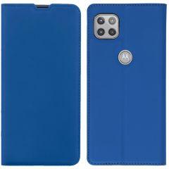 iMoshion Slim Folio Book Case Motorola Moto G 5G - Donkerblauw