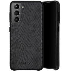 Selencia Gaia Slang Backcover Samsung Galaxy S21 - Zwart