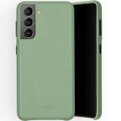 Selencia Gaia Slang Backcover Samsung Galaxy S21 - Groen