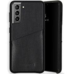 Selencia Vayu Vegan Lederen Backcover Samsung Galaxy S21 - Zwart