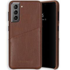 Selencia Vayu Vegan Lederen Backcover Samsung Galaxy S21 - Bruin