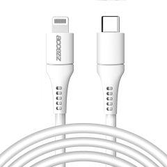 Accezz MFI Certified USB-C naar Lightning kabel - 2 meter - Wit