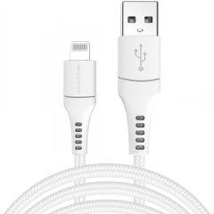 iMoshion MFI Braided Lightning naar USB kabel - 3 meter - Wit