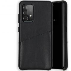 Selencia Vegan Lederen Backcover Galaxy A52 (5G) / A52 (4G) - Zwart