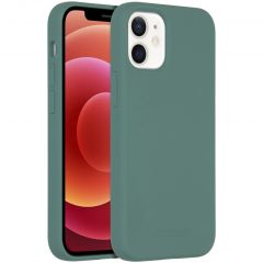 Accezz Liquid Silicone Backcover met MagSafe iPhone 12 Mini - Groen