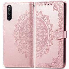 iMoshion Mandala Booktype Sony Xperia 10 III - Rosé Goud