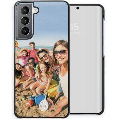 Ontwerp je eigen Samsung Galaxy S21 hardcase hoesje - Zwart