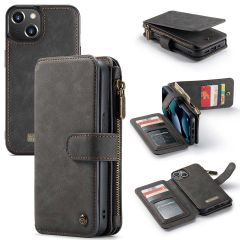 CaseMe Luxe 2 in 1 Portemonnee Booktype iPhone 13 - Zwart