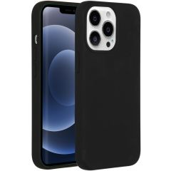 Accezz Liquid Silicone Backcover met MagSafe iPhone 13 Pro - Black