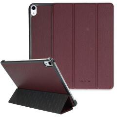 Selencia Kesia Slang Trifold Book Case iPad Air (2020) - Donkerrood