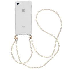 iMoshion Backcover met koord + armband - Parels iPhone SE (2020) /8/7