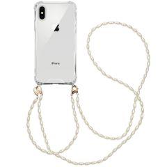 iMoshion Backcover met koord + armband - Parels iPhone Xs / X