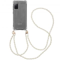 iMoshion Backcover met koord + armband - Parels Samsung Galaxy S20 FE