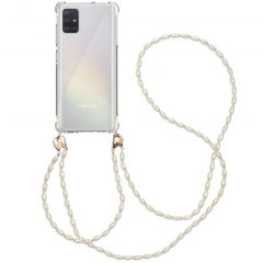 iMoshion Backcover met koord + armband - Parels Samsung Galaxy A51
