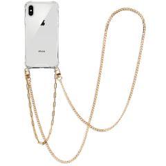 iMoshion Backcover met koord + armband - Ketting iPhone Xs / X - Goud
