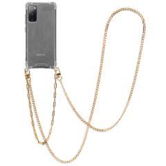 iMoshion Backcover met koord + armband - Ketting Galaxy S20 FE - Goud