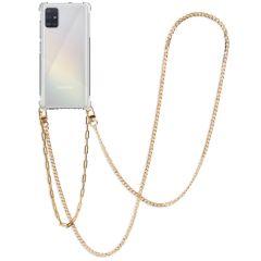 iMoshion Backcover met koord + armband - Ketting Galaxy A51 - Goud