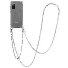 iMoshion Backcover met koord + armband - Ketting Galaxy S20 FE-Zilver