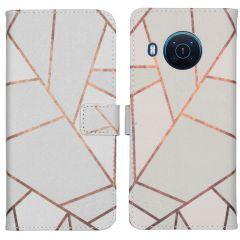 iMoshion Design Softcase Book Case Nokia X10 / X20 - White Graphic