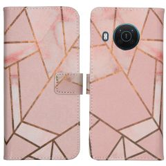 iMoshion Design Softcase Book Case Nokia X10 / X20 - Pink Graphic