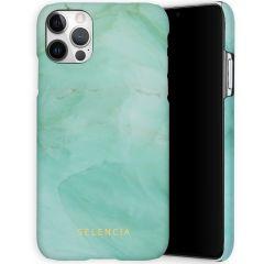 Selencia Maya Fashion Backcover iPhone 12 (Pro) - Marble Green