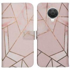iMoshion Design Softcase Book Case Nokia G10 / G20 - Pink Graphic