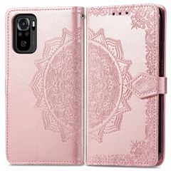 iMoshion Mandala Booktype Xiaomi Redmi Note 10 (4G) - Rosé Goud