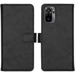 iMoshion Luxe Booktype  Xiaomi Redmi Note 10 (4G) - Zwart