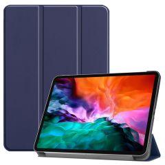iMoshion Trifold Bookcase iPad Pro 12.9 (2021) - Donkerblauw