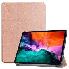 iMoshion Trifold Bookcase iPad Pro 12.9 (2021) - Rosé Goud