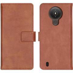 iMoshion Luxe Booktype Nokia 1.4 - Bruin